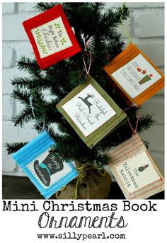 Mini Christmas Book Ornaments by The Silly Pearl