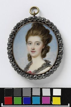 © Victoria and Albert Museum, London Miniature of an unknown woman by Richard Cosway, 1775