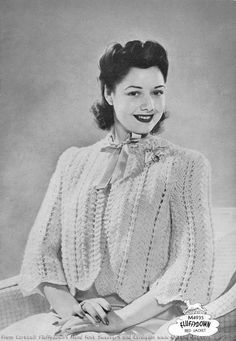 The Vintage Pattern Files: 1940s Bed Jacket