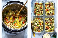 24 Meal-Prep Recipes You Can Make On Sunday For The Whole Week Lunch Recipes, Dinner Recipes, Cooking Recipes, Healthy Recipes, Greek Marinated Chicken, Bruschetta Chicken Pasta, Instant Pot Pasta Recipe, Potted Beef Recipe, Best Meal Prep