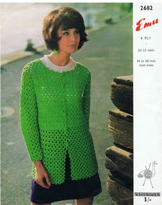 Vintage Retro Corchet Jacket  Instant Download by FrankieandJJ