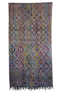 Breathtaking Moroccan sequined kilim.  I never see this kind of coloring.  So very rare and beautiful.
