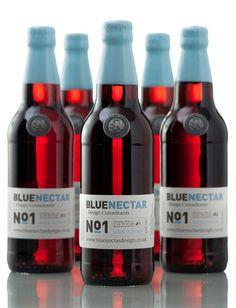 Blue Nectar | #packaging #bottledesign
