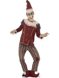 Adults Possessed Punch Puppet Punch & Judy Halloween Fancy Dress Costume - Dragons Den Fancy Dress Limited