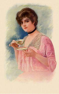 Vintage Tea Parties, Vintage Party, Decoupage, Illustrator, Painting Prints, Canvas Prints, Paintings, Vintage Poster, Victorian Art