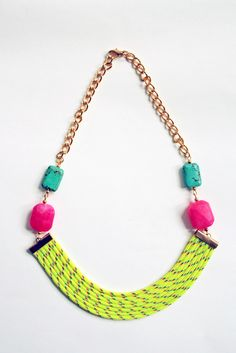 Neon statement collar necklace from Almost Done