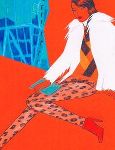 Fashion Illustration - Aimee Levy - monstylepin #fashion #illustration #print #leopard