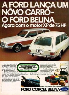 Anúncio Ford Corcel Belina - 1971
