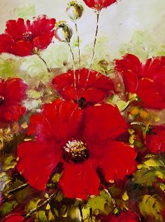 In The Key Of Red Painting Paintings Fl Flowers