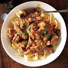 MyRecipes recommends that you make this Beef and Mushroom Stroganoff Menu from Cooking Light (TO MAKE) Beef Dishes, Food Dishes, Main Dishes, Beef Mushroom Stroganoff, Cooking Light Recipes, Cooking Ideas, Veggie Soup, Meat Recipes, Pasta Recipes