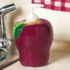 Apple Kitchen Home Decor SOAP LOTION PUMP Dispenser