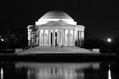 Jefferson Memorial in black and white by MNesterpics, via Flickr