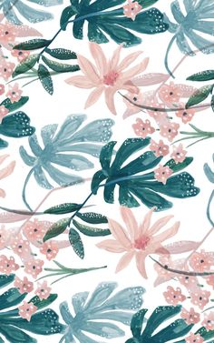 Image result for tropical green and pink patterns