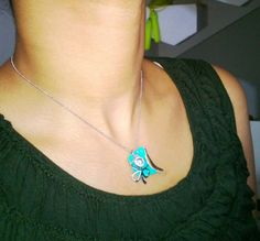 Another clay Pendant (turquoise)