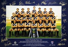 1995 Carlton Blues AFL Premiership Team Grand Final 30th September 1995 Carlton 21.15 (141) d Geelong 11.14 (80)