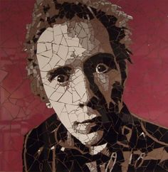 Johnny Rotten by Ed Chapman - Sex Pistols Johnny Rotten, Mosaic Portrait, Mosaic Artwork, Mosaic Glass, Famous People, Statue, Face, Artist, Portraits