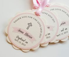Baptism Favor Tags Favors First Communion Holly Christening Gift