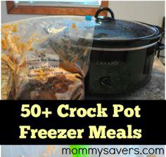 50+ Crock Pot Freezer Meals #crockpot #freezercooking