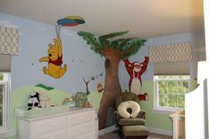 Even my hubbie loves this!!! I actually teared up a little when I saw this room. I LOVE Winne the Pooh.