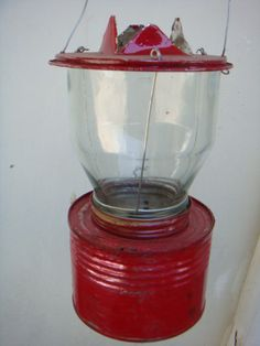 DIY Lanterns from tin cans & jelly jars.