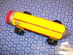 Pencil AWANA derby car design - AG loves this!
