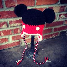 Mickey Mouse crocheted hat by Christa Keeler