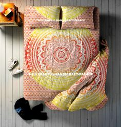 Ombre Mandala Bedding Set. This set includes reversible DUVET cover , BEDSPREAD & 2 PILLOW Cases. It is made up of 100% Cotton. #Traditional #Beautiful #Ethnic #Indian #Double #Bohemian #Hippie #Gypsy #Decor #Bedding #Set #tiedye #floral #Love #decorative #Pillow #cushion #case #sham #slip #India #art #Queen #royal #luxury #bedding #room #home #decor #live #doona #blanket #quilt #life #bed #sheet #throw #love #boho #cotton Free Express Shipping Worldwide #handicraftpalace.