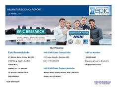 Try your fortune in the currency market with the FOREX Market Tips by Epic Research Private Limited, a leading financial advisory in India. Our daily/weekly report is based on the analysis done by the research team having years of expertise in FOREX segment.
