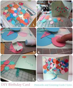 DIY Birthday Card. Diy Birthday, Birthday Cards, Diy Tutorial, Birthday Invitations, Tutorials, Diy Crafts, Gift Ideas, Holidays, Random