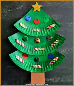 Fun paper plate Christmas tree craft for kids, preschool Christmas crafts, Christmas fine motor activities, Christmas art projects for kids. Lace Christmas Tree, Christmas Tree Crafts, Preschool Christmas, Christmas Activities, Craft Activities, Christmas Projects, Simple Christmas, Holiday Crafts, Christmas Decorations