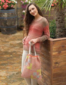 Revista mujer 81 Primavera / Verano   15: Mujer Jersey   Beige-Naranja salmón