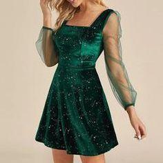 Hoco Dresses, Ball Dresses, Pretty Dresses, Beautiful Dresses, Dress Outfits, Casual Dresses, Dress Up, Sheer Dress, Mesh Dress