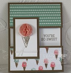 Stampin' Up! Honeycomb Happiness & Honeycomb Embellishments. Earn the stamp set for FREE during Sale-A-Bration. Debbie Henderson, Debbie's Designs