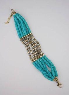 metallic beaded bracelet