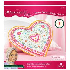 American Girl Crafts Embroidered Pillow Kit, Felicity Sweet Heart EK Success,http://www.amazon.com/dp/B007B4LX9A/ref=cm_sw_r_pi_dp_qsUQsb13T24ZZ51V