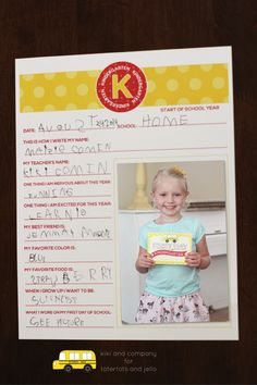 Free Back to School Printable Interviews from kiki and company. LOVE this set!