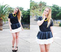 Chic Wish Skirt, Zara Necklace, Zara Blouse