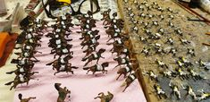 Painting for client. French scale plastic dragoons for diorama battle of Waterloo. Battle Of Waterloo, Military Figures, Diorama, Soldiers, Scale, Miniatures, Plastic, Hand Painted, French