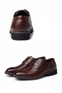 Gradient Pointed Oxfords - Dark Brown – Red & Luke