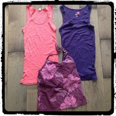 OLD NAVY • Bundle of Tops - Tanks Halter M Lot This listing includes all three tops pictured.  2 Old Navy Tank Tops and 1 Old Navy halter top.  All in excellent used condition.  Great colors & perfect for layering! All size medium. Old Navy Tops