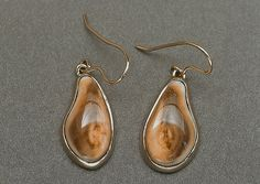 elk ivory earrings (HA)