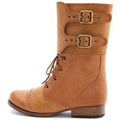 Double Buckle Combat Boot ($35) ❤ liked on Polyvore
