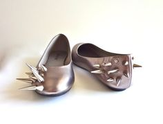 Spiked Ballet Flats - I can see a use to these.