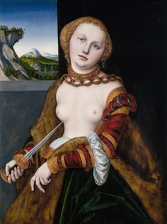 Lucas Cranach the Elder - Lucretia (The Royal Collection) ルーカス・クラナッハ The Queen's Gallery, Rome, Lucas Cranach, Royal Collection Trust, Digital Archives, Windsor Castle, Prince Albert, Museum Of Fine Arts, 16th Century
