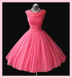 e24e562dc9 1950s vintage dress Vintage Pink