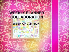 Easter Week - My Weekly Planner Decorating Collaboration -  THRIFTYFIFTY- https://youtu.be/ijjk6Nyz6fY