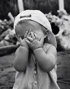 Cooles Baby  #Cap #Kuckuck #Babyfoto #schwarzweiss