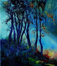 "Saatchi Art Artist Pol Ledent; Painting, ""Mist 310803  SOLD"" #art"