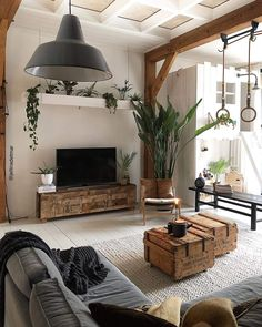 Modern Living Room Furniture Design and Decorating - Kitchen Inst House Interior, Apartment Room, Home, Living Room Decor Modern, Interior Design Living Room, Apartment Living Room, Pallet Furniture Living Room, Room Furniture Design, Living Design
