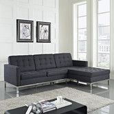 Found it at Wayfair - Loft Wool Right Arm Sectional Sofa